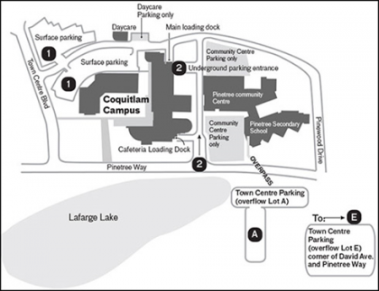 Coquitlam Campus Map