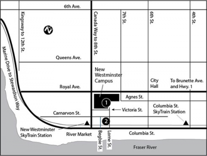 New Westminster Campus Map